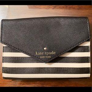 Kate Spade B&W Striped Clutch